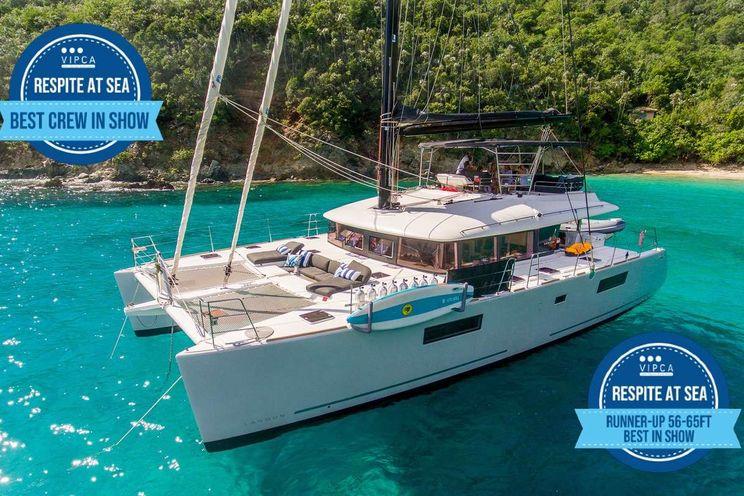Charter Yacht RESPITE AT SEA - Lagoon 56 - 3 Cabins - Virgin Islands
