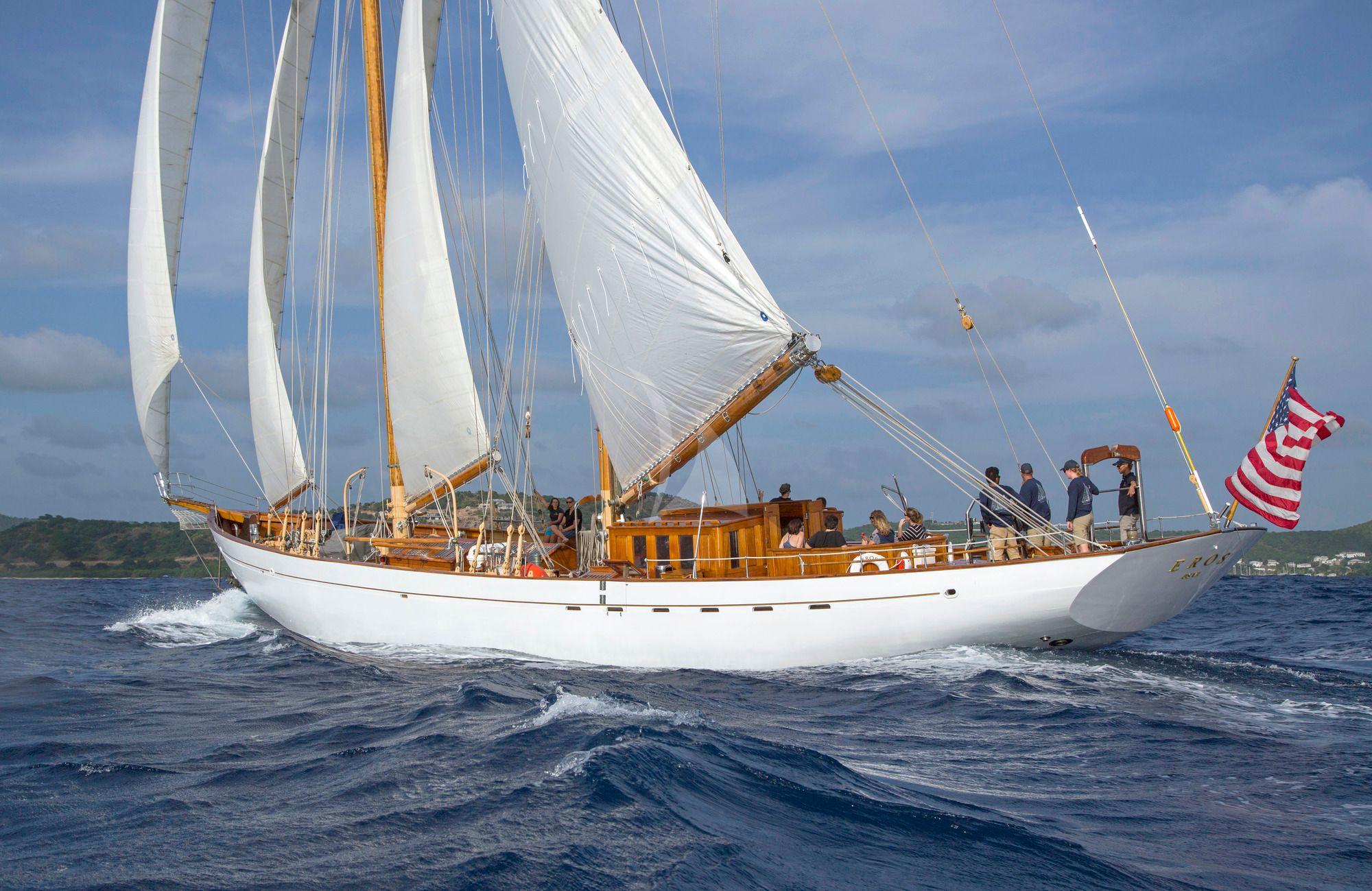 EROS - 35m Staystill Schooner - 4 Cabins - New England - Newport,RI - Caribbean - BVIs