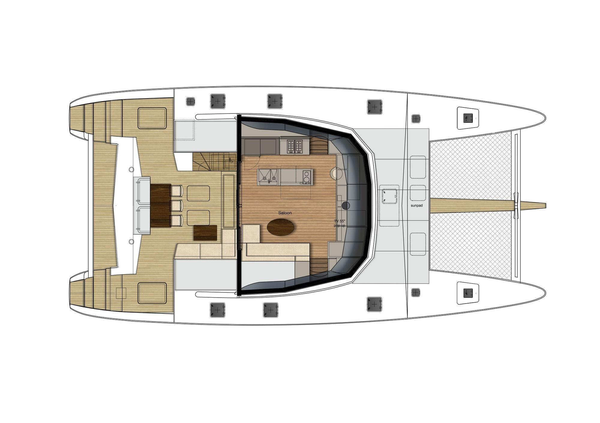 ADEA Sunreef 60 Luxury Catamaran  Top Deck