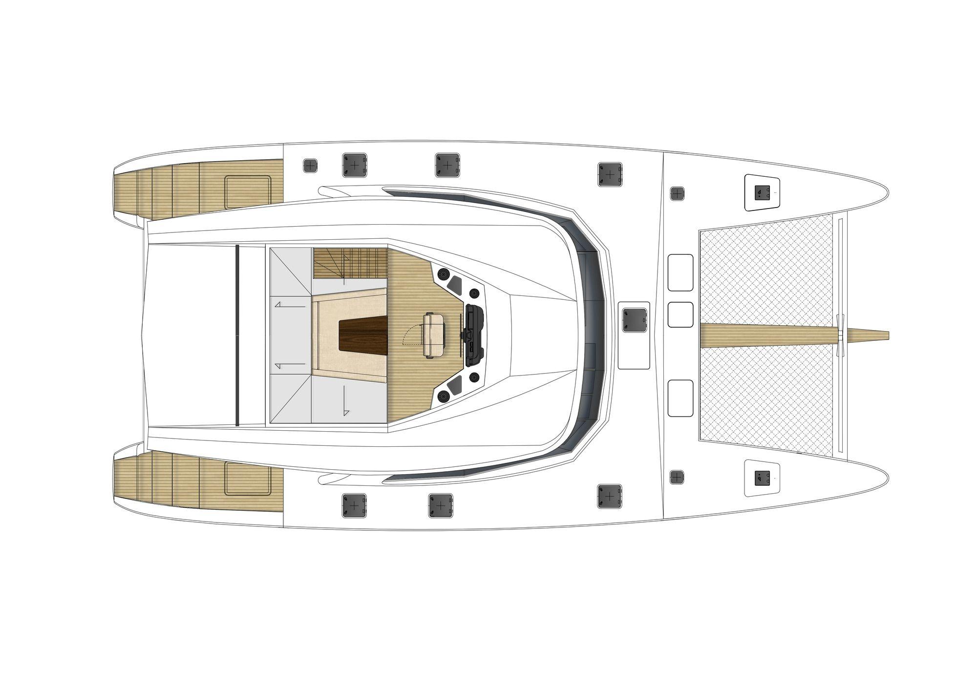 ADEA Sunreef 60 Luxury Catamaran  Middle Deck
