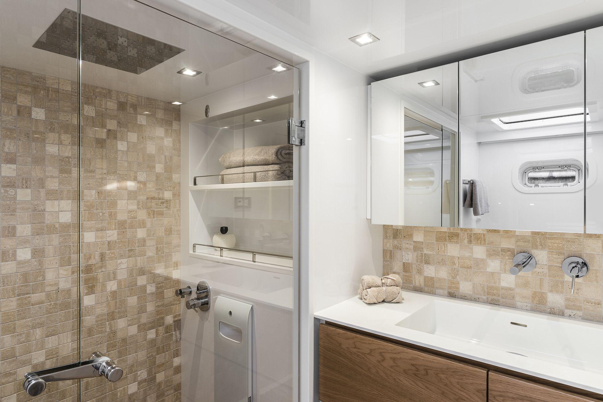 ADEA Sunreef 60 Luxury Catamaran Contemporary Shower