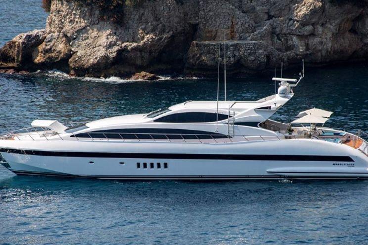 Charter Yacht ALLURE - 105 Sport Mangusta - 4 Cabins - Monaco - St Tropez - Cannes - Nice