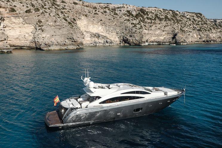 Charter Yacht ALVIUM - Sunseeker Predator 84 - 4 cabins - Ibiza Port - Palma - Formentera