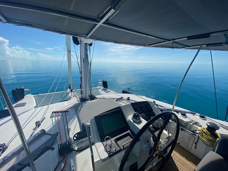 view forward from the flybridge
