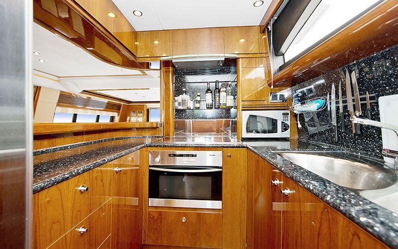 ANNE VIKING Princess 84 Luxury Motoryacht Galley