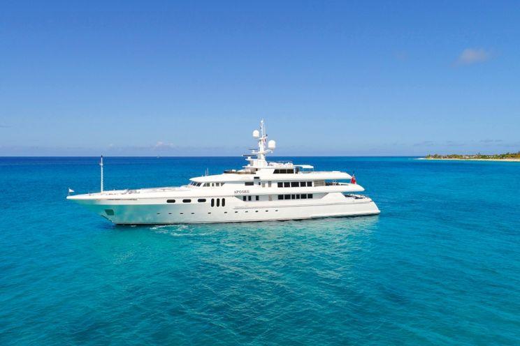 Charter Yacht APOGEE - Codecasca 223ft - 6 Cabins - Leeward Islands - Windward Islands - Croatia - Greece