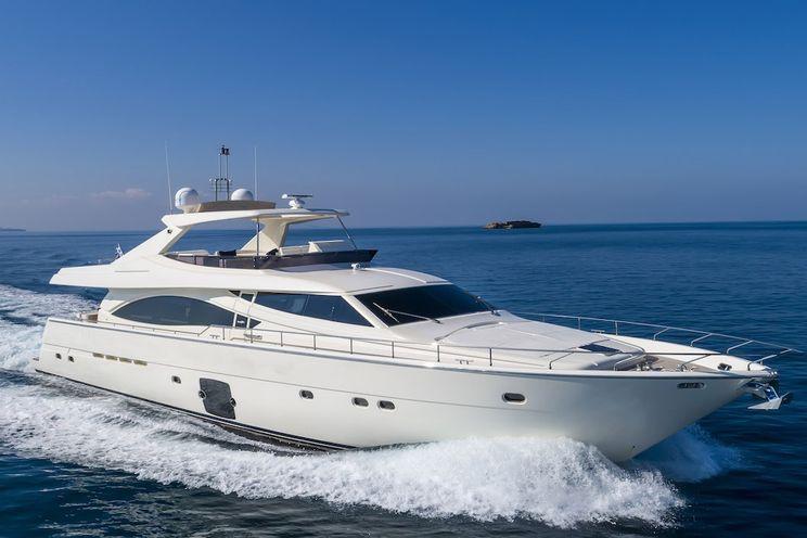 Charter Yacht ASTARTE - Ferretti 83 - 4 Cabins - Athens - Mykonos - Zakynthos