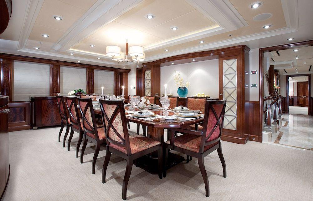 AVALON Luxury Motor Yacht Dining