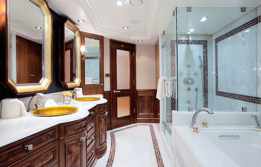 AVALON Luxury Motor Yacht Master Bath