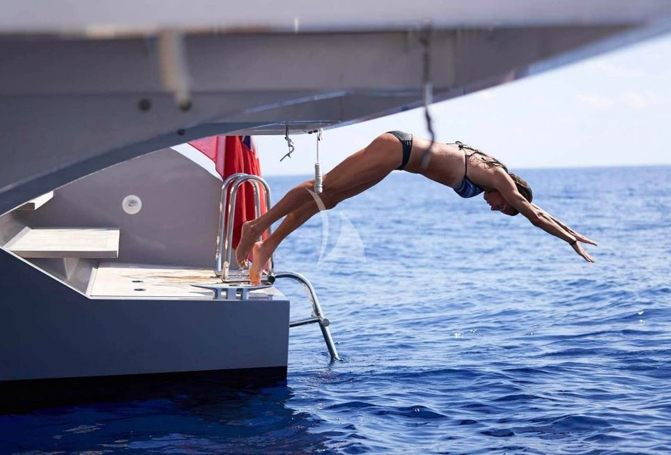 Swimming from the Stern