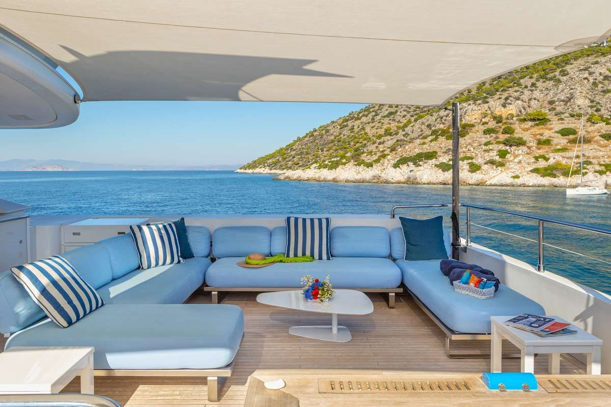 BARENTS SEA Yacht Upper Deck Lounging