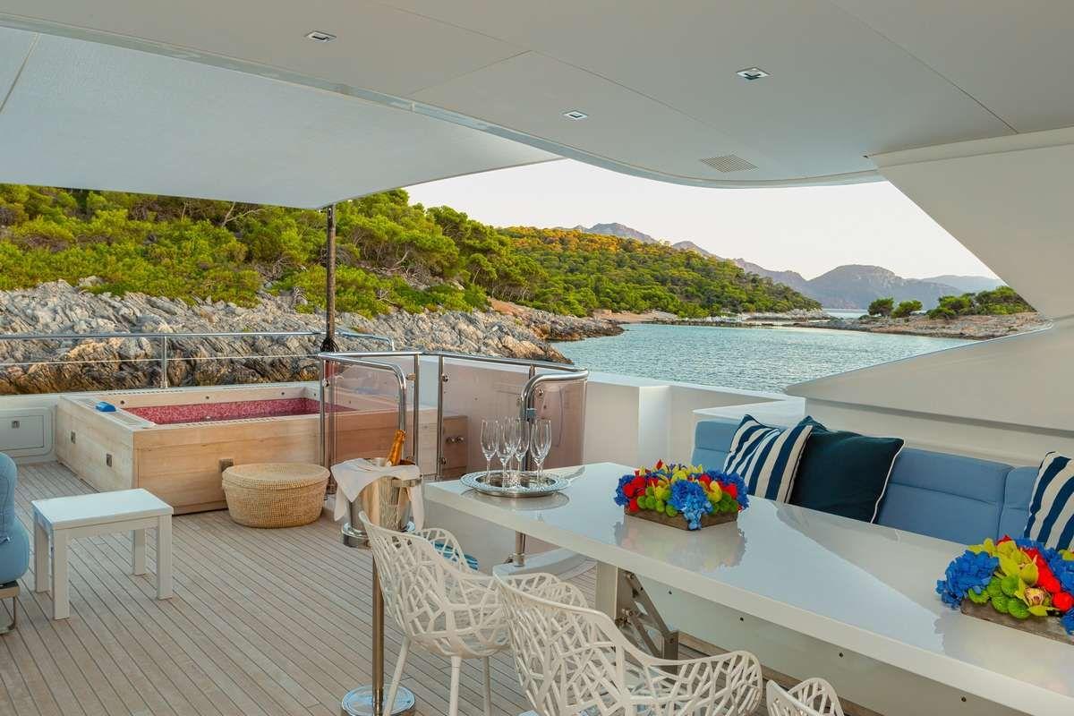 BARENTS SEA Yacht Upper Deck Dining