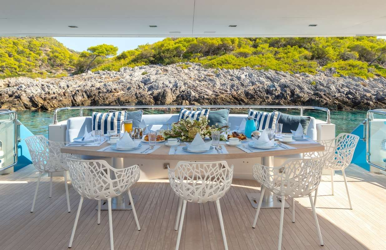 BARENTS SEA Yacht Aft Deck Dining