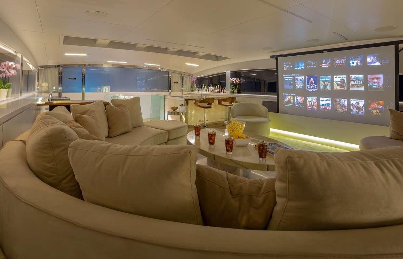 BARENTS SEA Yacht Upper Saloon TV