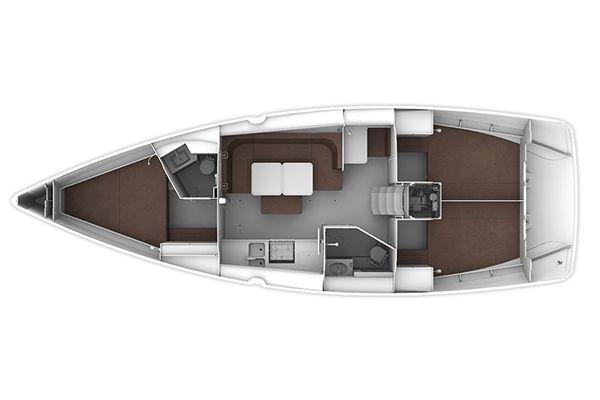 Bavaria 41 Cruiser Layout