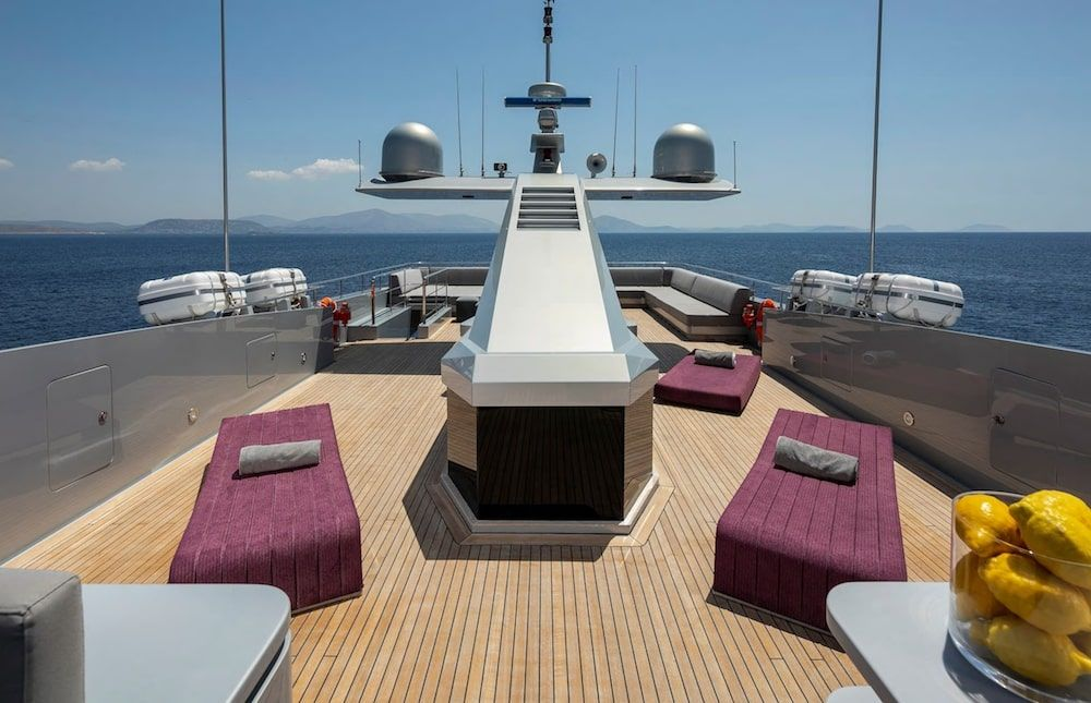 Admiral 42m Motor yacht BILLA Sunbathing