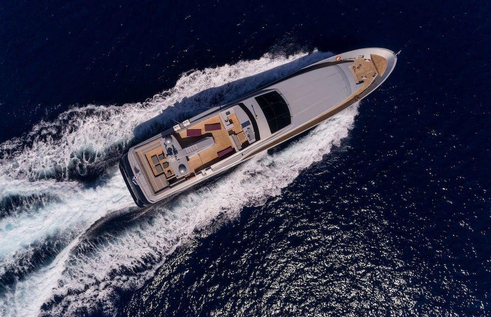 Admiral 42m Motor yacht BILLA Aerial
