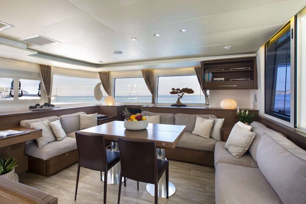 Crewed Catamaran BOOM Saloon