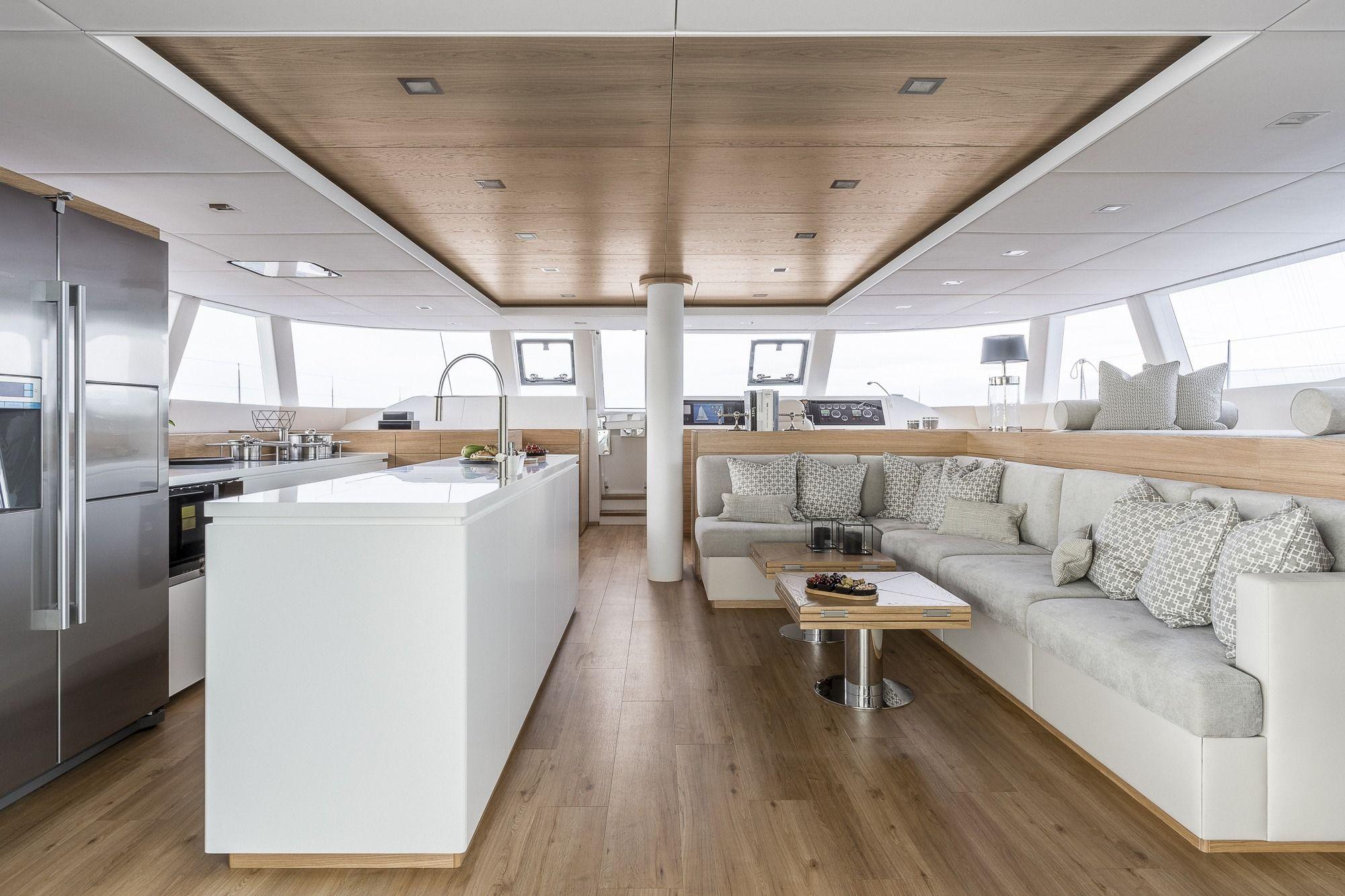 CALMAO Sunreef 74 Luxury Catamaran Saloon