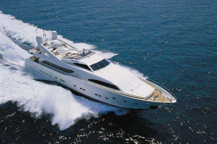 Charter Yacht CAMARIK - Custom Line Ferretti 34m - Marina Ibiza - Formentera - San Antonio - Palma