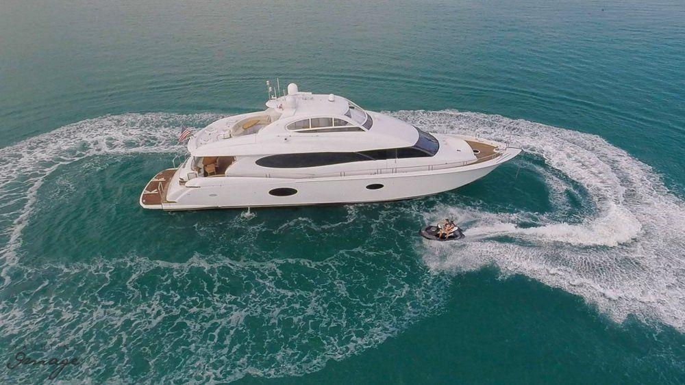 Miami Day Charter Yacht CHIP Lazzara 84 Running