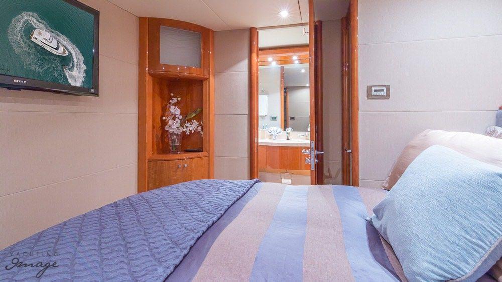 Miami Day Charter Yacht CHIP Lazzara 84 VIP Cabin