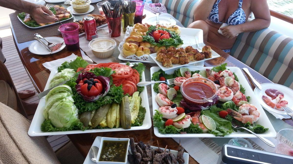 Miami Day Charter Yacht CHIP Lazzara 84 Fine Cuisine