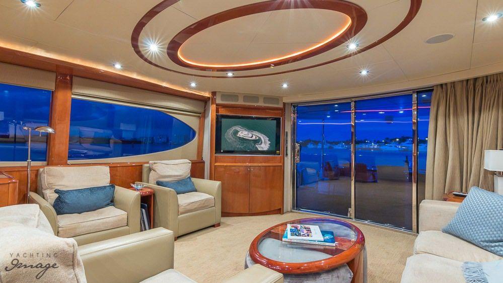 Miami Day Charter Yacht CHIP Lazzara 84 Saloon