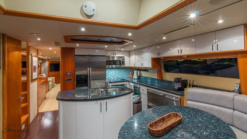 Miami Day Charter Yacht CHIP Lazzara 84 Galley