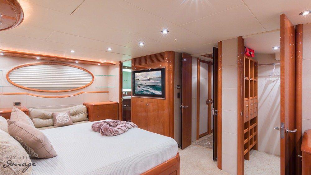 Miami Day Charter Yacht CHIP Lazzara 84 Main Cabin