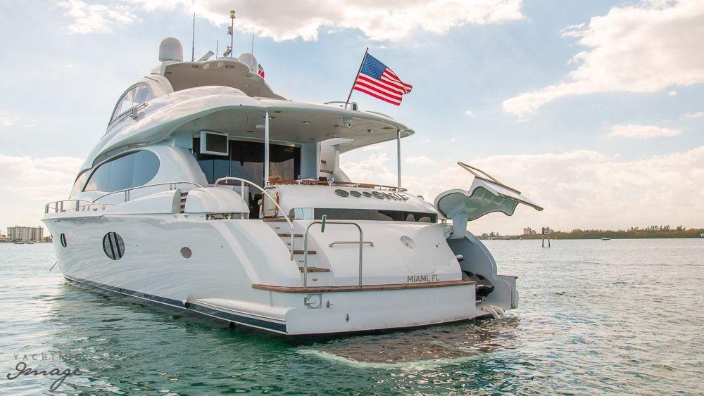 Miami Day Charter Yacht CHIP Lazzara 84 Rear