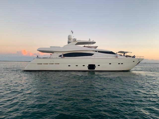Charter Yacht CINQUE MARE - Ferretti 88 - Miami Day Charter Yacht - Miami - South Beach - Florida