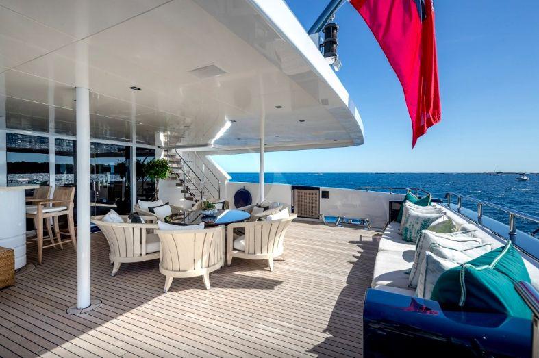 Clicia - 42m Baglietto - Luxury Motor Yacht - Aft deck
