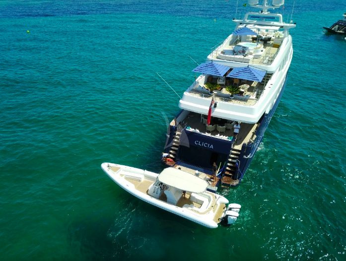 Clicia - 42m Baglietto - Luxury Motor Yacht - At Anchor