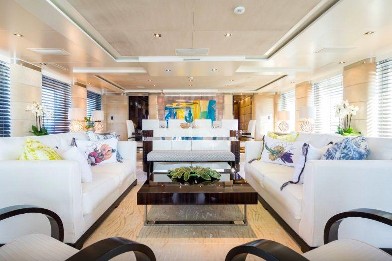 Clicia - 42m Baglietto - Luxury Motor Yacht - Main saloon
