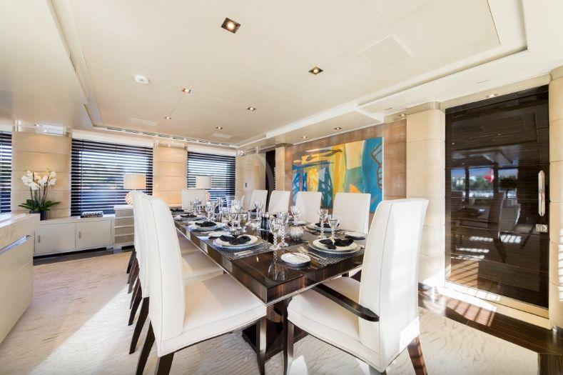 Clicia - 42m Baglietto - Luxury Motor Yacht - Main deck dining
