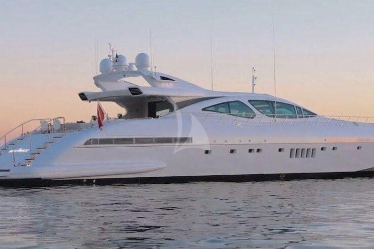 Charter Yacht CRAZY - Mangusta 130 - 5 Cabins - Cannes - Golfe Juan - Monaco - Antibes - St Tropez