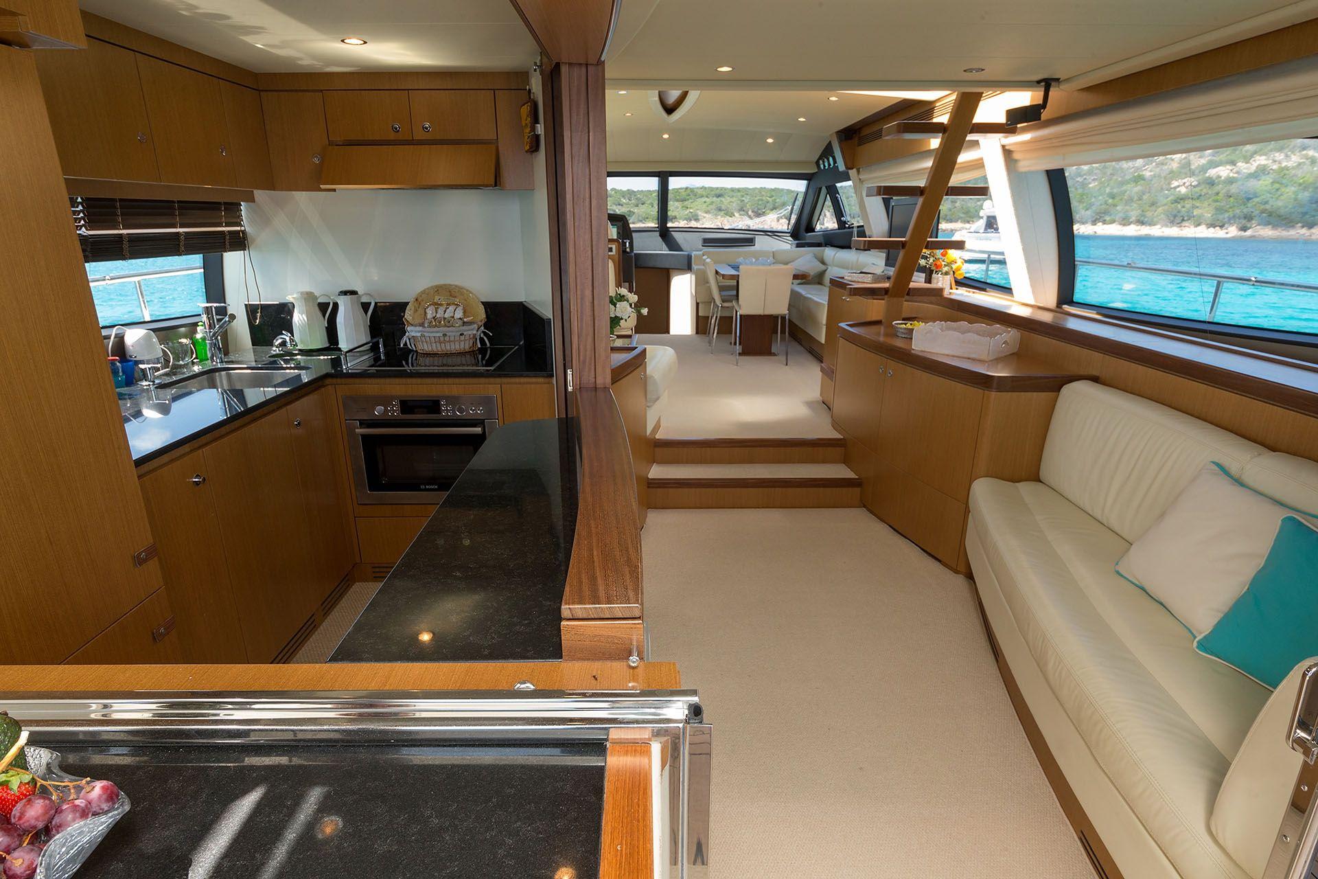 D`ARTAGNAN Ferretti 630 Luxury Motoryacht Saloon