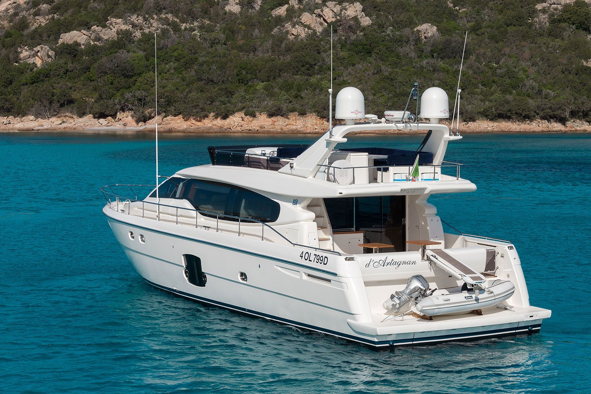 D`ARTAGNAN Ferretti 630 Luxury Motoryacht Anchored