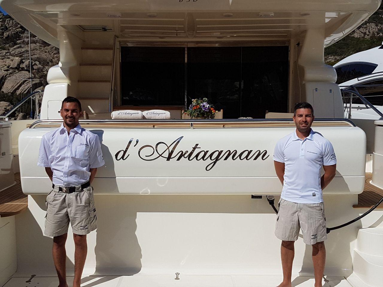 D`ARTAGNAN Ferretti 630 Luxury Motoryacht Capt. Michele & Alessandro