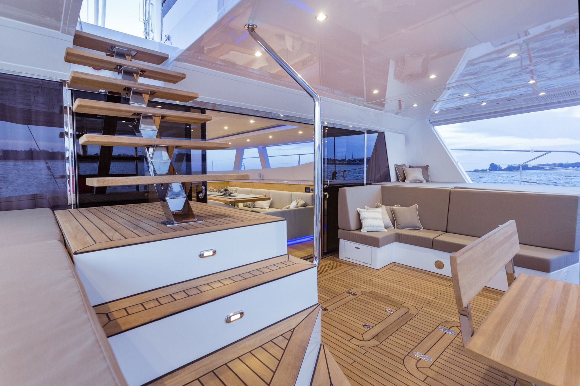 DIANA Sunreef 74 Luxury Catamaran Aft Deck