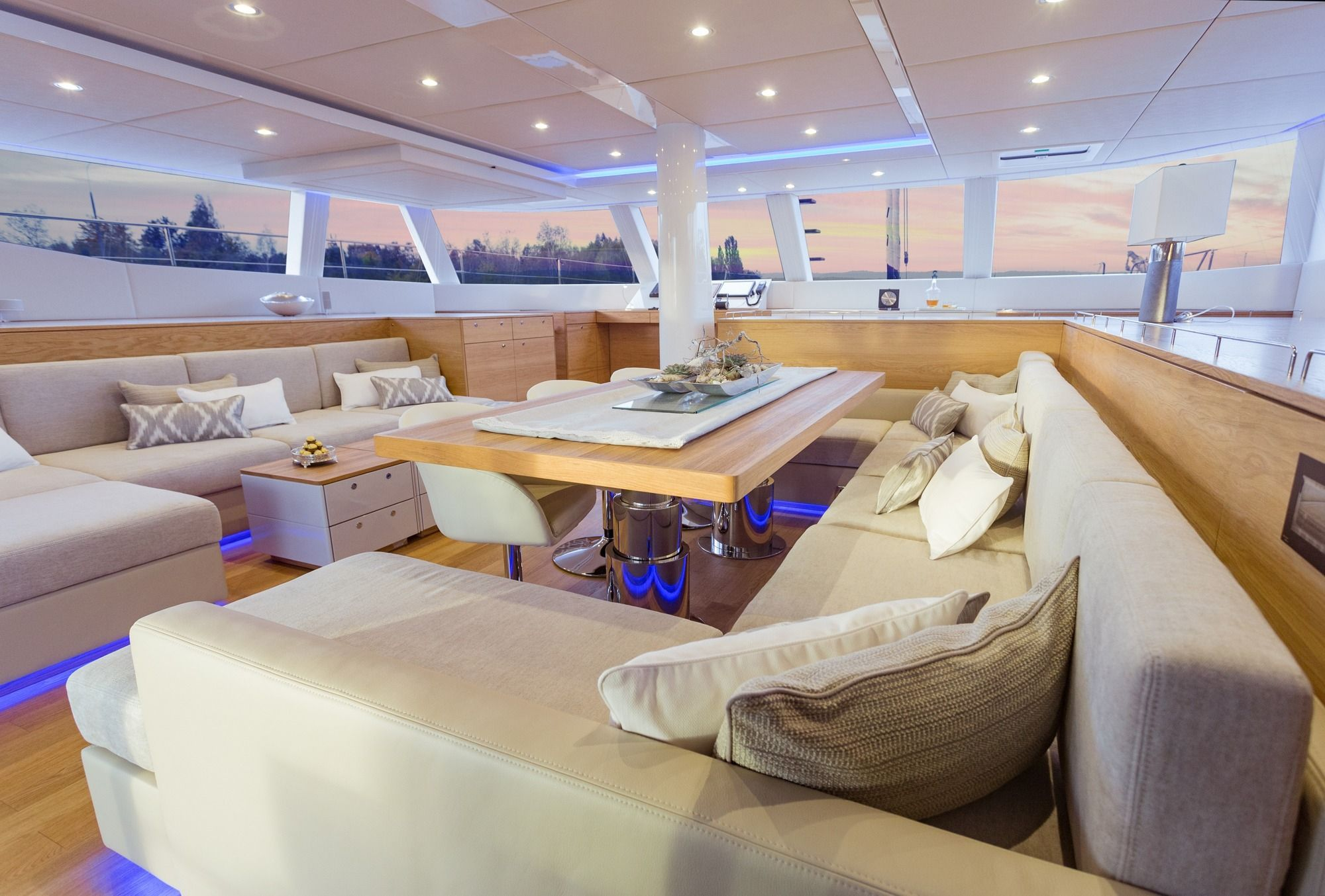 DIANA Sunreef 74 Luxury Catamaran Saloon