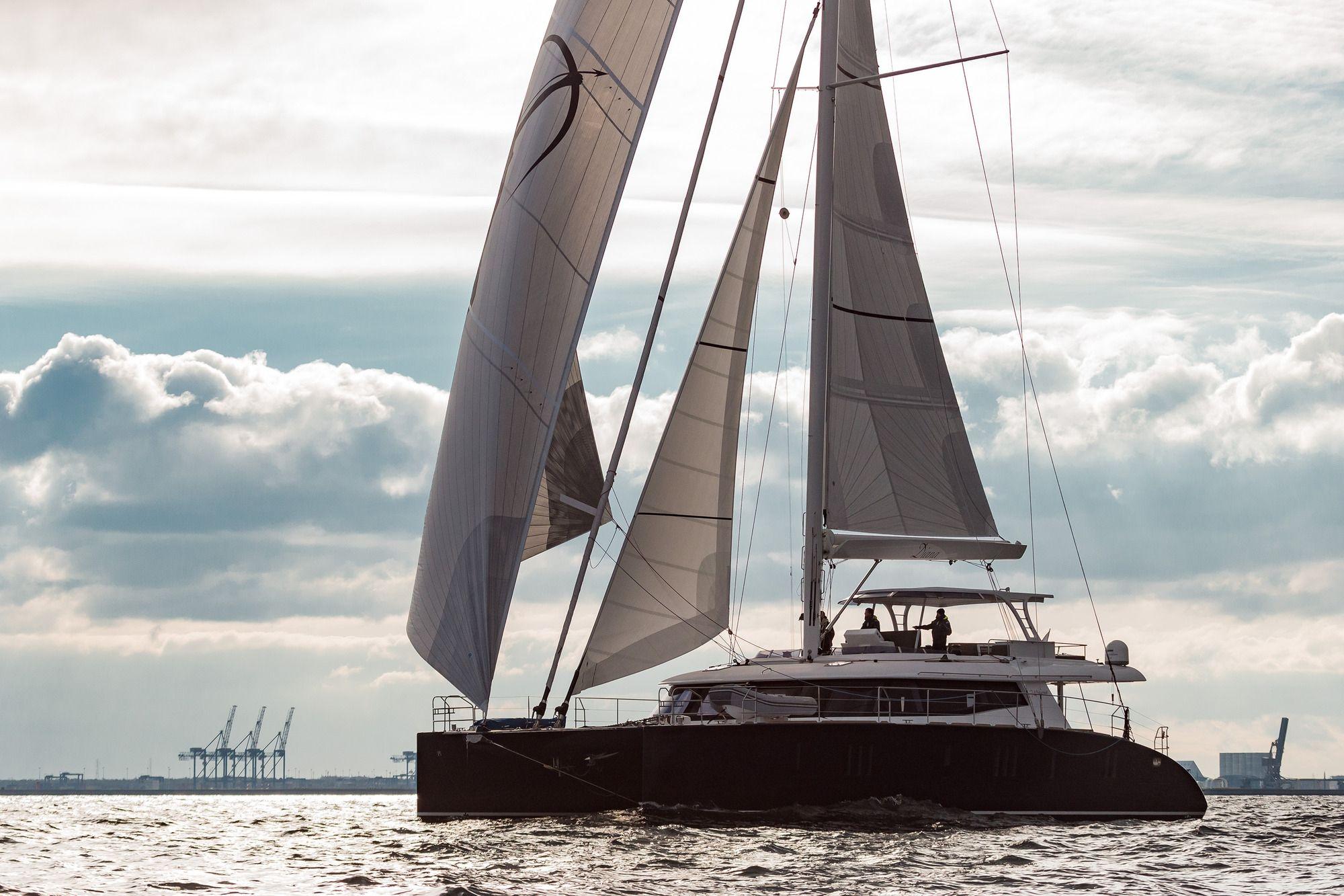 DIANA Sunreef 74 Luxury Catamaran Running