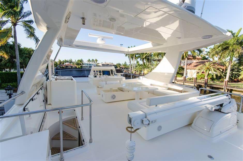 Miami Day Charter Yacht DR NO Ferretti 75 Sundeck