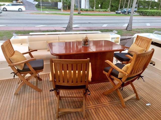 Miami Day Charter Yacht DR NO Ferretti 75 Al Fresco Dining