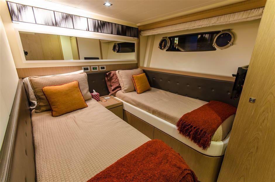 Miami Day Charter Yacht DR NO Ferretti 75 Twin Cabin