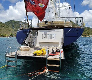 DRUMBEAT Alloy 53m Luxury Sailing Yacht Swim Platform