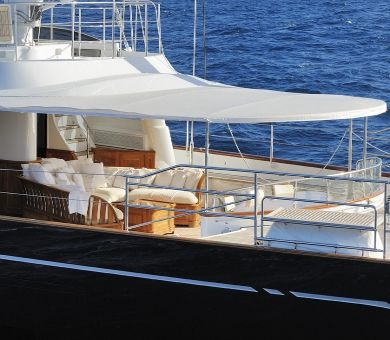 DRUMBEAT Alloy 53m Luxury Sailing Yacht Aft Deck
