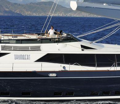 DRUMBEAT Alloy 53m Luxury Sailing Yacht Running