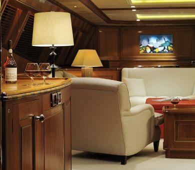 DRUMBEAT Alloy 53m Luxury Sailing Yacht Bar